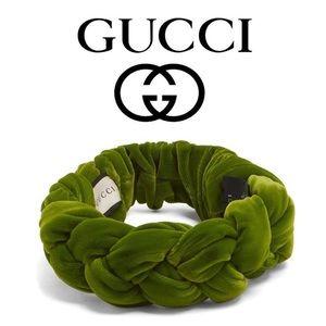Gucci Velvet Braided Headband